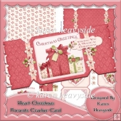 Heart Christmas Presents Cracker Card