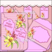 Lily Scalloped Pocket Card