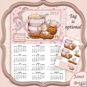 CHOCOLATE FIX 2018 A4 UK Calendar with Decoupage Kit