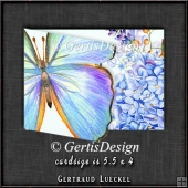Watercolor Butterfly in Blue 1346
