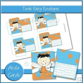 Blue & Orange Boy Tooth Fairy Envelopes