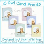 6 Owl Card Fronts