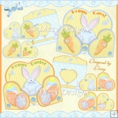 Hoppy Days & Hoppy Easter Heart Gatefold Cards