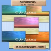 Beach Scenery Backing Papers Set 3