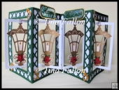 Accordian Christmas Lantern Card - multi cut file formats