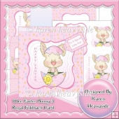 Wee Easter Bunny 3 Regal Foldback Card