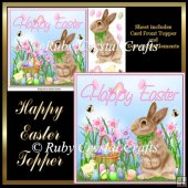Happy Easter Decoupage Topper