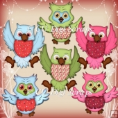Cute Owls Clipart Collection
