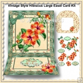 Vintage Style Hibiscus Large Easel Card Kit