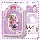 Feminine Fuchsia Multi Occasion Shaped Card Kit