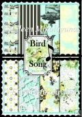 Bird Song Set of 8 Spring Backing Background Papers