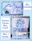 Cheerful Wishes Pocket Tissue Card Box Set with Directions