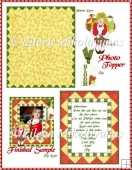 Picture Front Spring Angel Card Topper