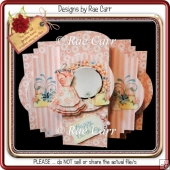904 Pretty Pink Dress Center Pop Out Card