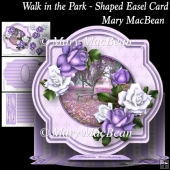Walk in the Park Shaped Easel Card