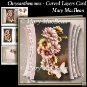 Chrysanthemums - Curved Layers Card