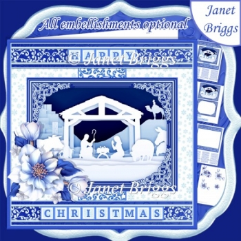 NATIVITY SILHOUETTE 7.8 Quick Layer Card or Decoupage Mini Kit