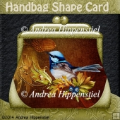 Handbag Shape Card Autum