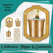 Celebration Topper and Sentiments