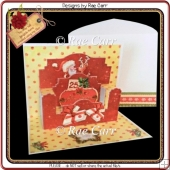 396 Christmas Pop-Up Card *MACHINE & HAND Cut Files*
