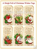 A Sleigh Full of Christmas Wishes Tags
