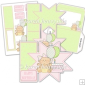 Princess Baby Party 3 Star Card Kit