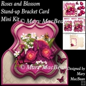 Roses and Blossom Stand-up Bracket Card Mini Kit