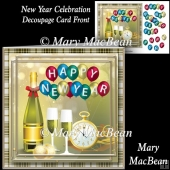 New Year Celebration - Decoupage Card Front