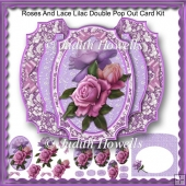 Roses And Lace Lilac Double Pop Out Card Kit