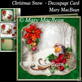 Christmas Snow Decoupage Card