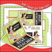Girl Best Teacher PDF Easel Card Download