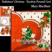 Teddybears' Christmas - Teardrop Pyramid Card