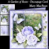 A Garden of Roses - Decoupage Card