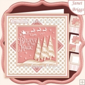 CHRISTMAS MONOTONE BELIEVE IN THE MAGIC 7.5 Quick Layer Card
