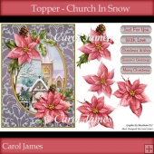 Church In Snow - Topper