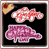 765 Valentine Greetings Toppers 1 *Machine Formats*