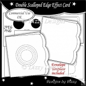Double Scalloped Edge Effect Card Template