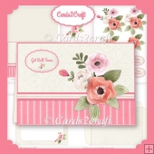 Flower landscape card set