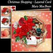 Christmas Shopping - Layered Card