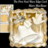 The First Noel Wavy Edge Card