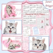 KITTENS 2018 UK Easy Fold Purse Calendars