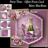 Party Time - Offset Front Card