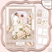 BRIDE & GROOM WEDDING DAY IVORY A5 Decoupage & Inserts Kit