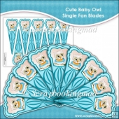 Cute Baby Owl Single Fan Blades