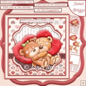 SNUGGLE BEARS 7.5 Decoupage & Insert Kit