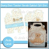 Beary Best Teacher Female Gabled Gift Box
