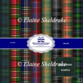 Tartan Set Two 12 x 12 Backing Paper Sheets
