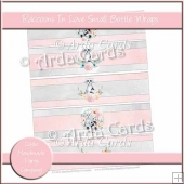 Raccoons In Love Small Bottle Wrappers