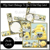 My Heart Belongs To You 4 Fold Flap Card