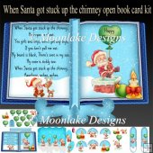 When Santa Got Stuck Open Book Card Kit